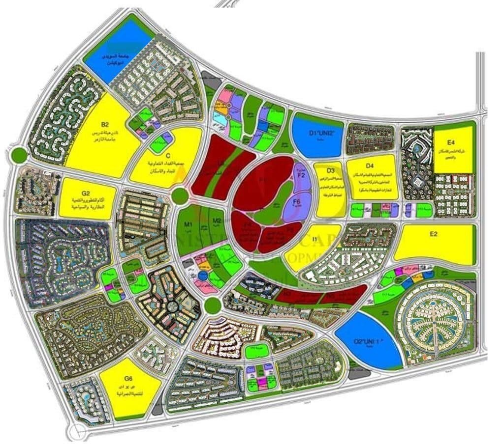 تحميل خريطة العاصمة الادارية الجديدة لمصر pdf