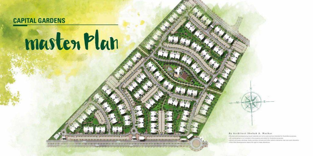 خريطة Capital Gardens Palm Hills